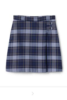 Private School Uniforms, A Line Skirts, Mini Skirts, Prep Style, School Uniform Girls, Lands End, Patterned Shorts, Casual Shorts, Plaid