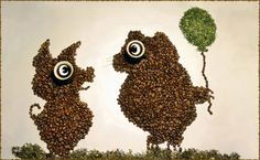 cartoons with coffee beans