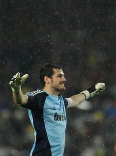 Iker Casillas. I am watching this hunk play for Spain against Brazil today. Spain & Brazil.....I am in soccer heaven!