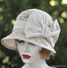 negli anni venti flapper Downton Abbey stile Wedding di GailsHats