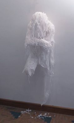 Discarded Plastic Bags Emotional Sculptures by Khalil Chishtee