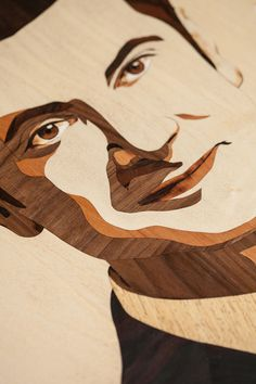 Wood Arts – Intarsia portrait Life Banker – BNL Gruppo BNP PARIBAS on Behance by Laszlo Sandor