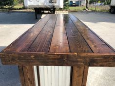 The Plank Provincial 8 foot mobile corrugated metal Bar Patio, Outdoor Patio Bar, Rustic Barn, Rustic Style, Big Green Egg Outdoor Kitchen, Shabby, Style Rustique, Deck Decorating, Diy Bar