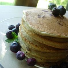 Whole Wheat Blueberry Pancakes - Allrecipes.com