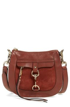 Rebecca Minkoff Dog Clip Leather & Suede Saddle Bag available at #Nordstrom