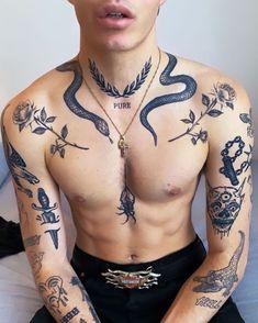 Hot Guys Tattoos, Dope Tattoos, Badass Tattoos, Black Tattoos, Tribal Tattoos, Tatoos Men, Geometric Tattoos, Torso Tattoos, Stomach Tattoos