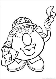 Potato Head on Kids-n-Fun. Coloring pages of Mr. Potato Head on Kids-n-Fun. More than coloring pages. At Kids-n-Fun you will always find the nicest coloring pages first! Toy Story Coloring Pages, Cool Coloring Pages, Disney Coloring Pages, Printable Coloring Pages, Adult Coloring Pages, Coloring Pages For Kids, Coloring Sheets, Coloring Books, Kids Coloring