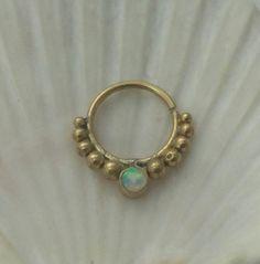 septum, Septum ring,  septum ring opal , septum, septum ring,nose ring, indian septum, tribal septum,opal earring, by seajewelry2015 on Etsy