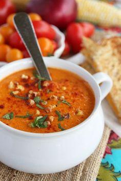 Roasted Sweet Corn  Tomato Soup by kaye