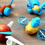 Turn Boring Vegetables into Spaceships and Racecars with Le FabShop's 3D-Printable 'Open Toys'