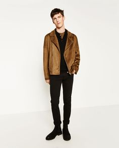 FAUX SUEDE JACKET-View all-JACKETS-MAN   ZARA United States