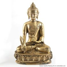 Medizin Buddha Statue Messing 20cm 1,6kg #lichterleben #medizinbuddha