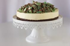 White Chocolate & Mascarpone Cheesecake with Mint Topping » cake ...