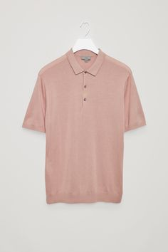 COS | Silk cotton polo shirt