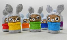 Wine Cork Bunny Rabbits - Crochet Clothing