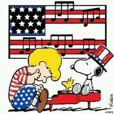 Listening to patriotic music