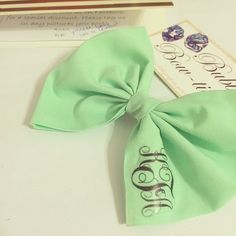 Personalized prep on it's way! Have you gotten your monogrammed bow yet? #monograms #bows #mint