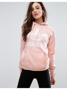 Adidas adidas Originals Pink Trefoil Boyfriend Hoodie