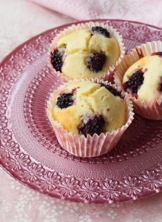 böğürtlenli muffin