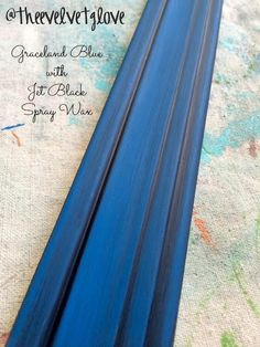 Heirloom Traditions Chalk Type Paint in my signature color, Graceland Blue with Jet Black Spray Wax.
