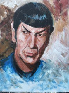 """Live Long & Prosper,"" Scot Paisley, acrylic on canvas, 11""x14"" #scotpaisley #spock #startrek"