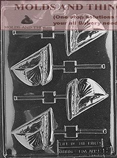 SAILBOAT Lolly Kids Chocolate candy mold with © molding Instructions - Set of 2