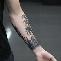 Forest cuff - Cheers Brody.. #foresttattoo #forest #forestcuff #tree #treetattoo #pines #pinetattoo #forearmtattoo #blackwork #blackandgreytattoo #dotwork #dotworktattoo #phreshink