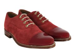 Red Suede with Patent Leather Cap Toe.... with my wedding tux?