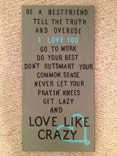 Love Like Crazy canvas @April Cochran-Smith Cochran-Smith Cochran-Smith Cochran-Smith Davis you need this