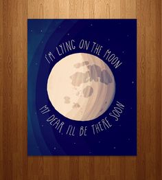 The Moon Song Art Print | This illustrated pen and ink print features a few dreamy lyric... | Posters
