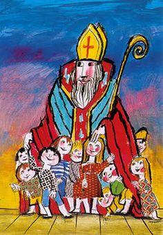 song idea for st. nicholas party St Nicholas with children