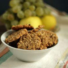 Яблочное печенье с овсянкой и манкой