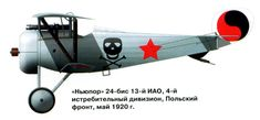 """Red Air Fleet / Красный Воздушный флот """"Newport"""" 24 bis of the 13th of MAO, the 4th Fighter Division, the Polish front, in May 1920"""