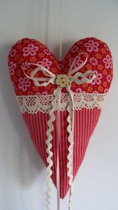 Украшение - День матери - - Большое сердце Коттедж - украшения - дизайнер кусок с-строчки и резьбой на DaWanda