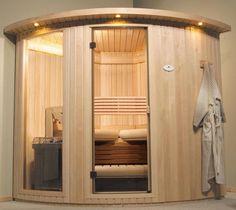 Sauna > Sauna rooms - Helo Ltd Sauna Steam Room, Sauna Room, Shower Cabin, Home Gym Design, Spa Rooms, Treatment Rooms, Rustic Bathrooms, Home Spa, Play Houses