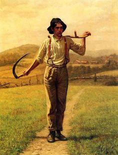 John George Brown - Fieldhand with Scythe