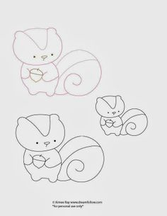 Cute free embroidery pattern