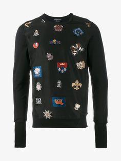 ALEXANDER MCQUEEN Badge Embroidered Sweatshir. #alexandermcqueen #cloth #
