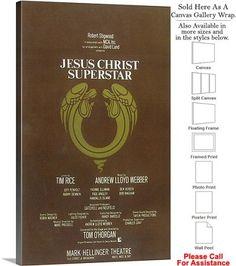 "Jesus Christ Superstar 1971 Broadway Musical Show Canvas Wrap 18"" x 30"""