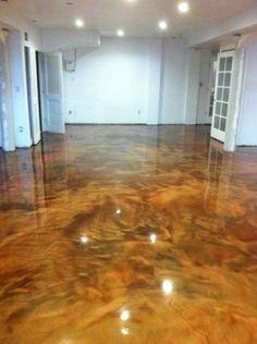 the exotic look of metallic epoxy garage floors | epoxy, garage