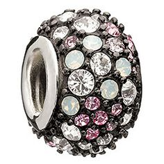 Jeweled Kaleidoscope - Pink and Black Swarovski (Chamilia)