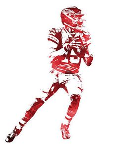 Patrick Mahomes KANSAS CITY CHIEFS WATER COLOR PIXEL ART 11 Art Print by Joe Hamilton. All prints are professionally printed, packaged, and shipped within 3 - 4 business days. Kansas City Nfl, Kansas City Chiefs Shirts, Chiefs Wallpaper, Red Wallpaper, Messi Gif, Joe Hamilton, Football Art, Football Design, Sports Wallpapers