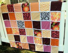 SewSara: Orange You Glad - minky quilt