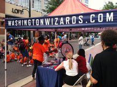 The Washington Mystics/Wizards Promo Squad made an appearance at the Downtown Silver Spring Reptiles Alive event on July 11th, 2012.
