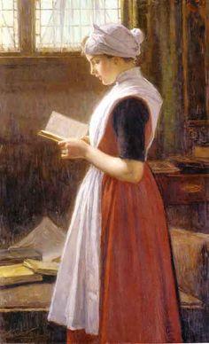 Amstredam orphan girl  by Nicolaas van der WAAY (Dutch)