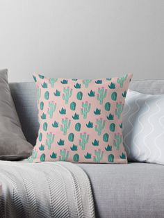 These cacti were hand drawn and then colored in Photoshop and made into a pattern. I used pretty green and pink colors. #succulent #succulents #plants  #pattern #patterns   #illustrations #illustration  #gift #gifts #giftideas #giftforher  #homedecor