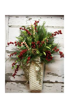 Beautiful christmas basket