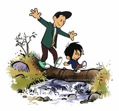 I've seen Calvin and Hobbes tributes a couple times before so I guess I had to throw my own in. The style is very fun to play with!