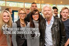 Staff first /// Richard Branson photoquote
