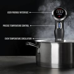 Chefman Sous Vide Immersion Circulator w/Precise Temperature Programmable Digital Touch Screen Display and Easy to Use Controls Black -- You can get more details by clicking on the image. (This is an affiliate link) Easy Healthy Recipes, Quick Easy Meals, Sous Vide Immersion Circulator, Bakeware, Make It Simple, Cooker, Display, Touch, Digital